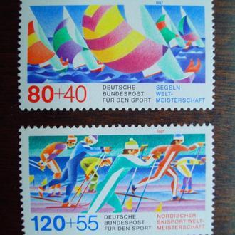 ФРГ.1987г. Спортивные соревнования. Полная серия. MNН