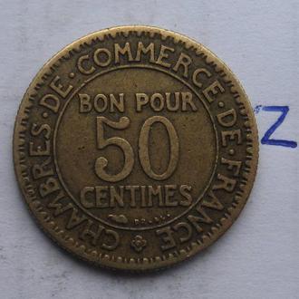 Франция, 50 сантимов 1922 года.