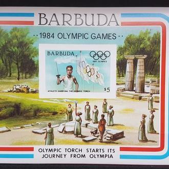 Барбуда 1984 Олимпиада-84 Лос Анжелес Б/Зуб. блок  Михель = 5,5 евро**