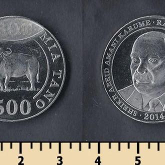 Танзания 500 шиллингов 2014