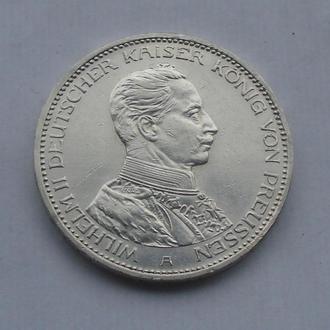1914 г - 3 марки Германии,в мундире,серебро № 6
