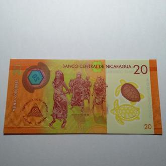 20 кордобас, 2014 Никарагуа, пресс, unc, оригинал