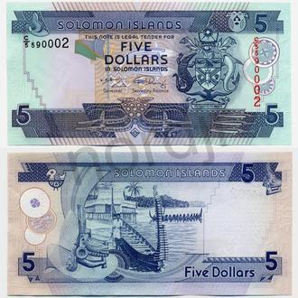 Соломоновы о-ва 5 долларов 2006 UNC