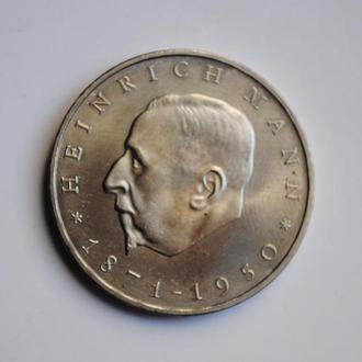 ГДР 20 марок 1971 г., UNC, '100 лет со дня рождения Генриха Манна'