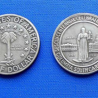 пол доллара США 1936 год Колумбия