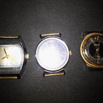 Часы наручные СССР  Победа  и Слава  3 шт. одним лотом