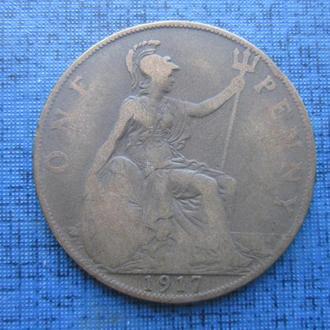 монета 1 пенни Великобритания 1917