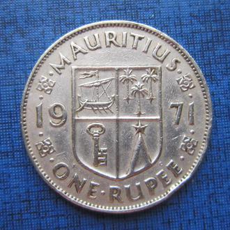 Монета 1 рупия Маврикий 1971 колония Великобритании