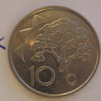 НАМИБИЯ, 10 центов 2002 года.