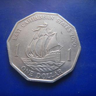 Восточные Карибы 1 доллар 2000