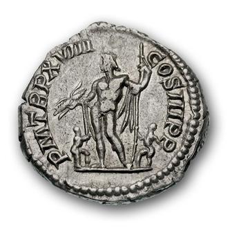 """(А)3364 - Септимий Север (193—211 г.) АR Денарий """"Юпитер"""""""