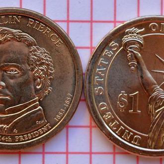 1 доллар 14-й президент США Ф.Пирс 2010 г