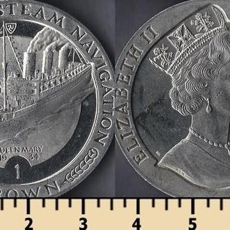 МЭН ОСТРОВ 1 КРОНА 1988