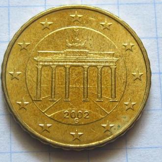 Германия_ 10 евро центов 2002 G оригинал