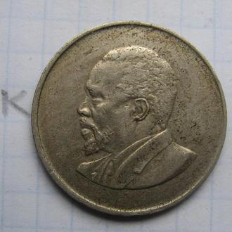 КЕНИЯ, 1 шиллинг 1966 г. (ПОРТРЕТ БЕЗ НАДПИСИ).