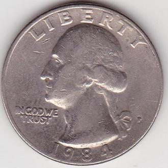 Квотер США 25 центов