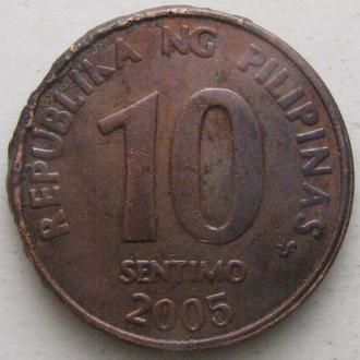 Филиппины 10 сентимо 2005 год
