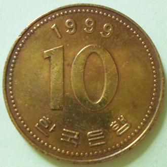 (А) Южная Корея 10 вон, 1999