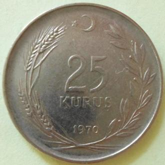 (А) Турция 25 курушей 1970