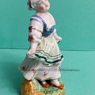 Антиквариат фарфоровая статуэтка Девушка фарфор XVIII век - начало XIX век  Pinxton porcelain Англия
