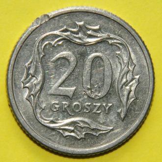 (А) Польша 20 грошей, 1990