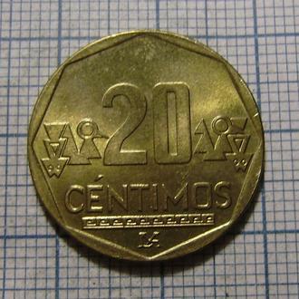 Перу, 20 сентимо 2015 г.