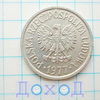 Монета Польша 20 грошей 1977 Алюминий №2