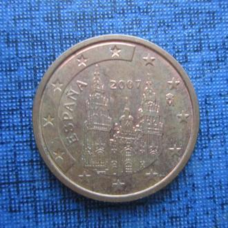 монета 2 евроцента Испания 2007