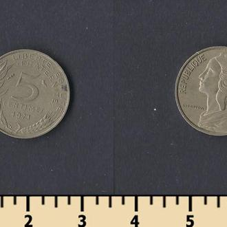 Франция 5 сантимов 1971