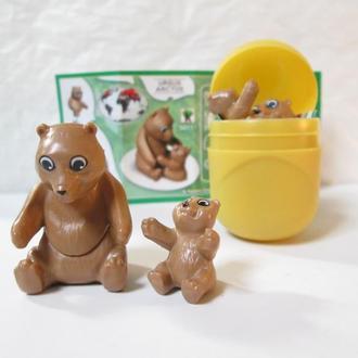 Животные, медведь с малышом + вкладыш, серия Натунс (Natoons)