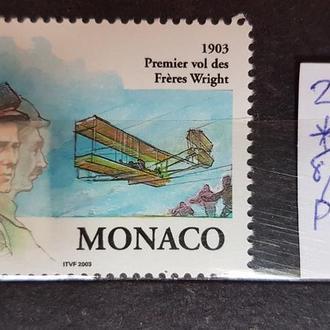 Монако 2003 100 лет полёта братья Райт Авиация ДЕШЕВЛЕ НОМИНАЛА**