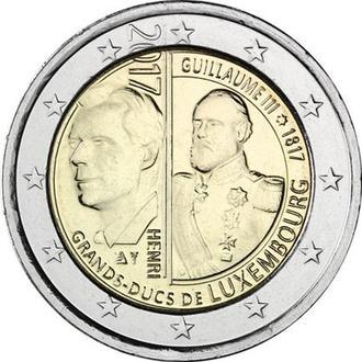 Shantal, Люксембург 2 Евро 2017, 200 лет со дня рождения Великого герцога Виллема III