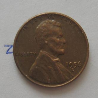 США, 1 цент 1956 года (Д).