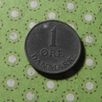 Дания монета 1 эре 1961 год !