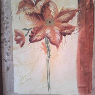Картина ЦВЕТОК 40х50 см в рамке.