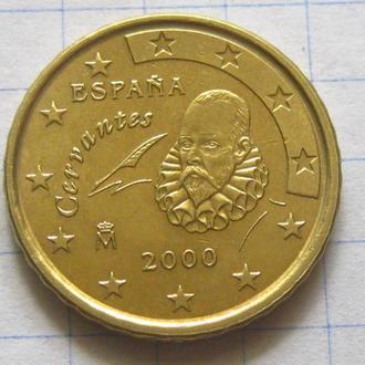 Испания_ 10 евро центов 2000 года  оригинал