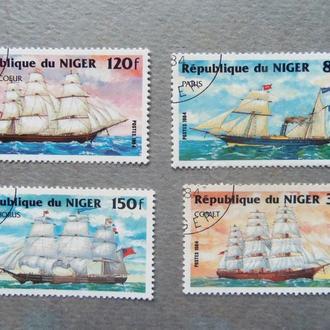 марки-Нигерия парусник-4 маоки(А2) - гашеные
