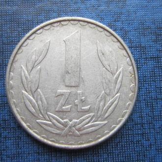 монета 1 злотый Польша 1988