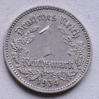 1 Рейхсмарка 1934 г А Германия 1 Марка 1934 г 1 Рейхсмарка 1934 р А Німеччина