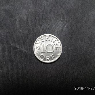 Швеция 10 эре 1977 аUNC