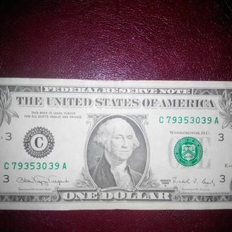 1 доллар 1988 США