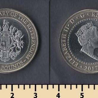 Гибралтар 2 фунта 2017