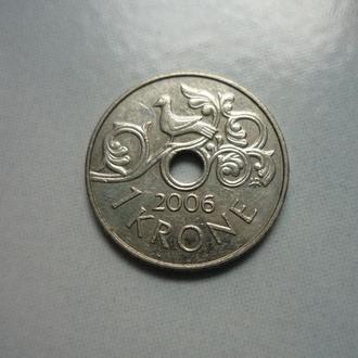 Норвегия 1 крона 2006