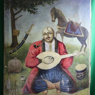 Картина Казак Мамай  (старая копия маслом)