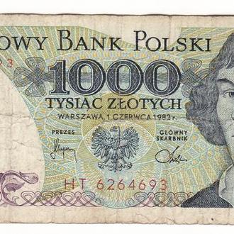 Польша 1000 злотых 1982 HT