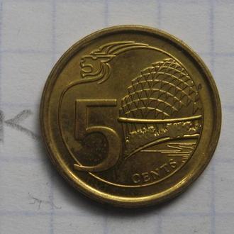 СИНГАПУР 5 центов 2015 г. (состояние).