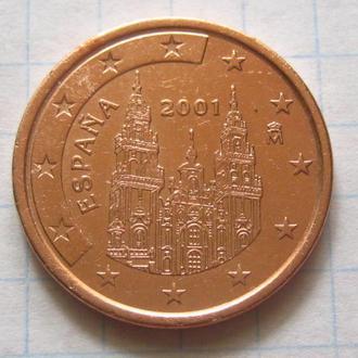 Испания_ 5 евро центов 2001  оригинал