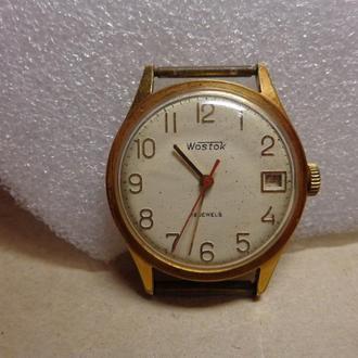 Часы Восток, позолота AU10-, СССР