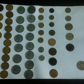 54 монет 1957 - 1992