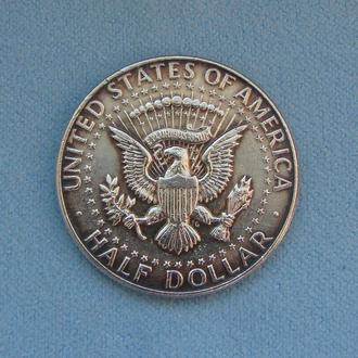 1/2 ДОЛЛАРА США 1964 г. Серебро 900. Монета 50 центов HALF DOLLAR (Кеннеди)